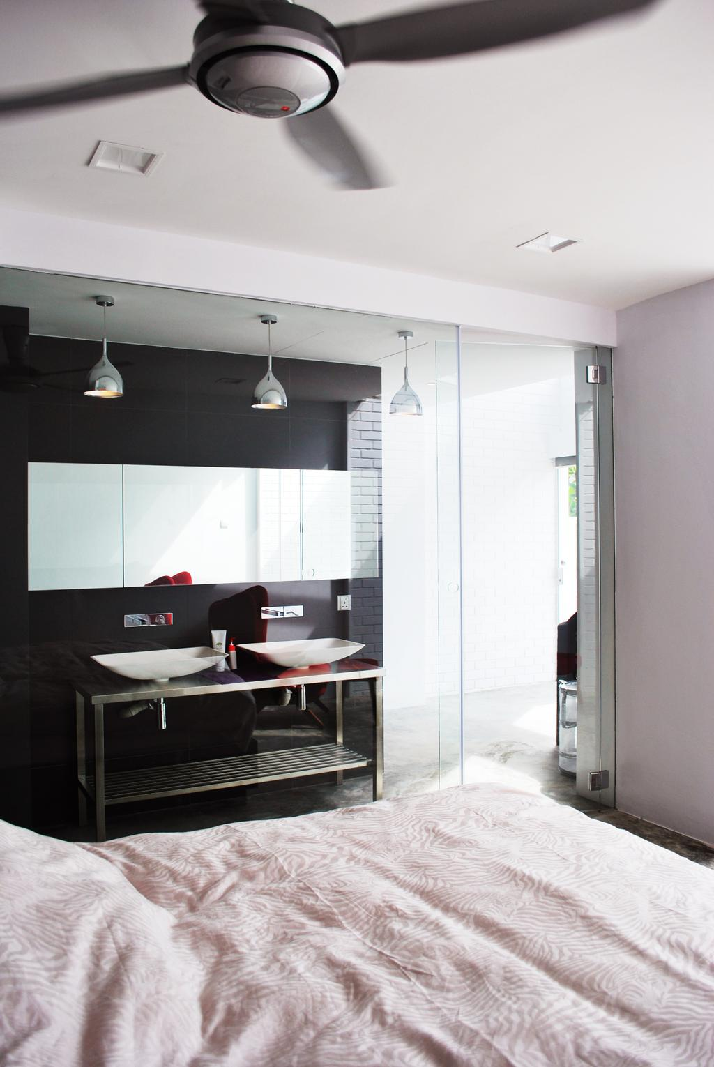 Transitional, Landed, Bedroom, Tagore Avenue, Architect, Czarl Architects, Chair, Furniture, Sink, Indoors, Interior Design, Dining Table, Table