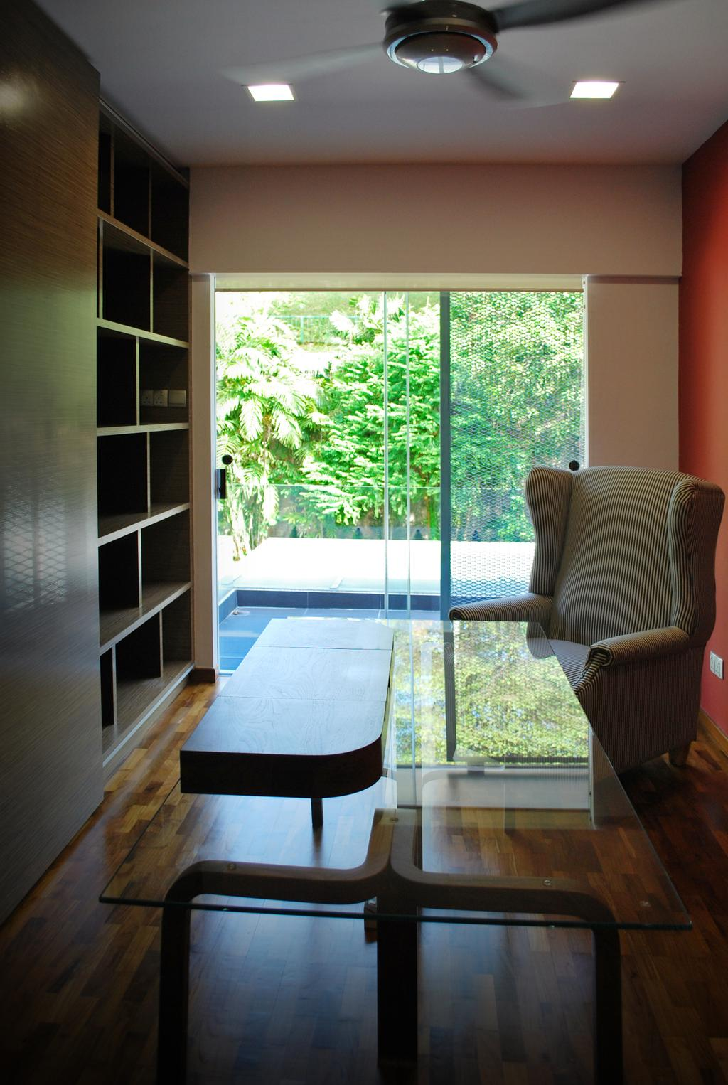 Transitional, Landed, Study, Tagore Avenue, Architect, Czarl Architects, Chair, Furniture, Flora, Jar, Plant, Potted Plant, Pottery, Vase, Bookcase