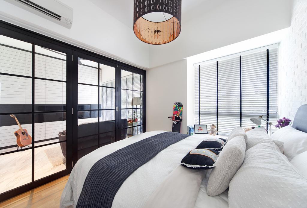 Contemporary, Condo, Bedroom, The Sorrento, Interior Designer, akiHAUS, Lamp, Lampshade
