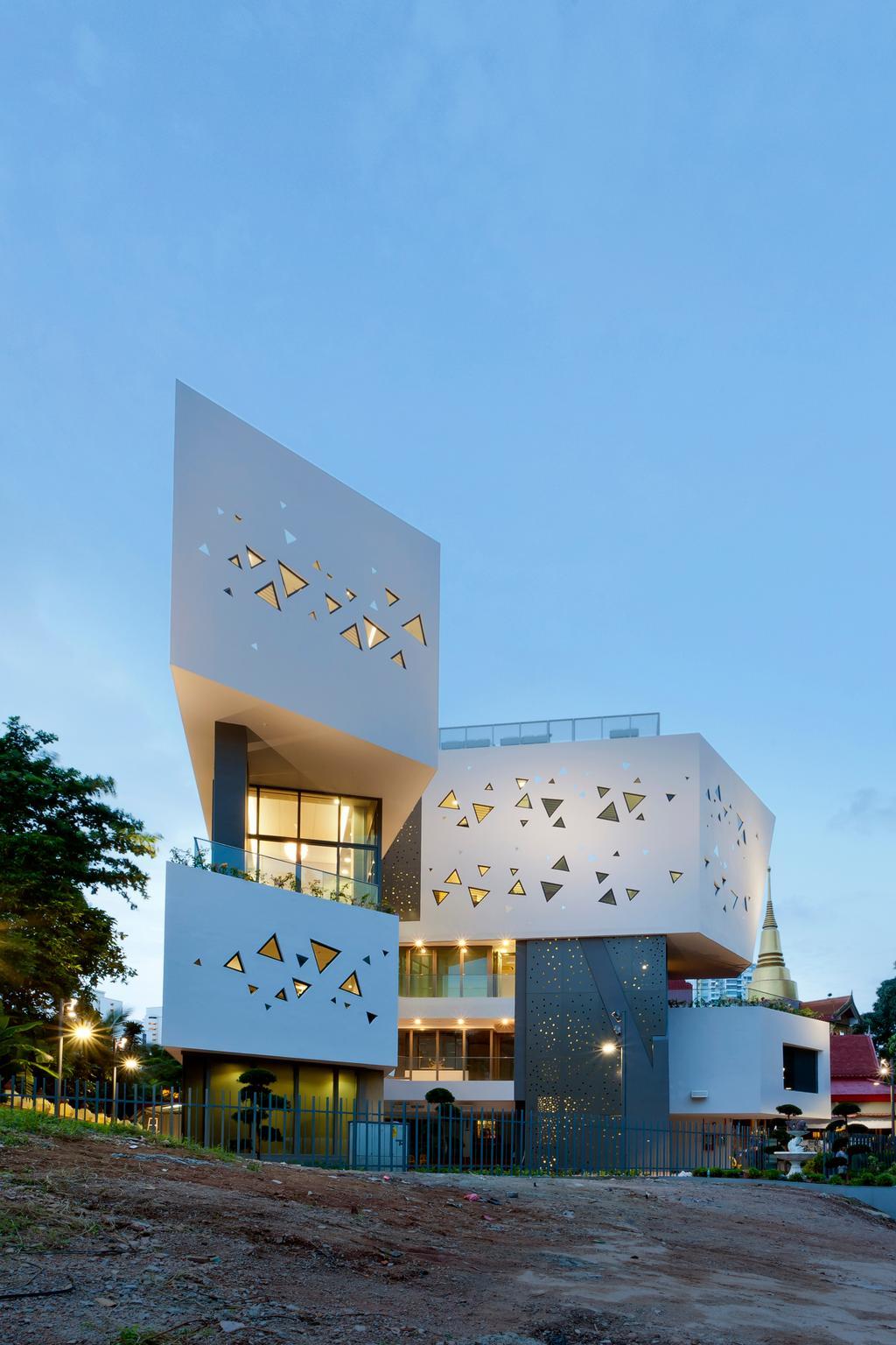 Wat Ananda Metyarama, Commercial, Architect, Czarl Architects, Minimalistic, Conifer, Flora, Pine, Plant, Tree
