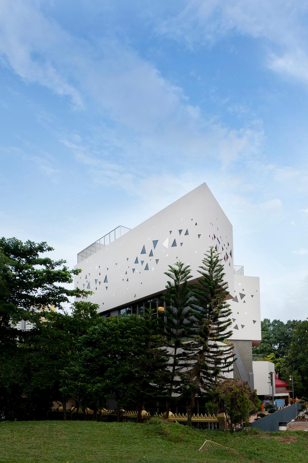 Wat Ananda Metyarama, Commercial, Architect, Czarl Architects, Minimalist, Building, Office Building, Ancient Egypt, Architecture, Pyramid, Flora, Plant, Tree, Conifer, Yew