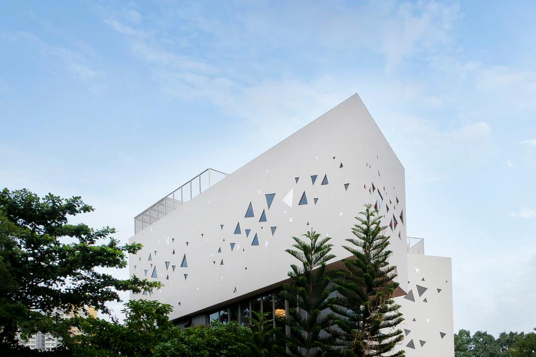 Wat Ananda Metyarama, Czarl Architects, Minimalistic, Commercial, Building, Office Building, Ancient Egypt, Architecture, Pyramid, Flora, Plant, Tree, Conifer, Yew