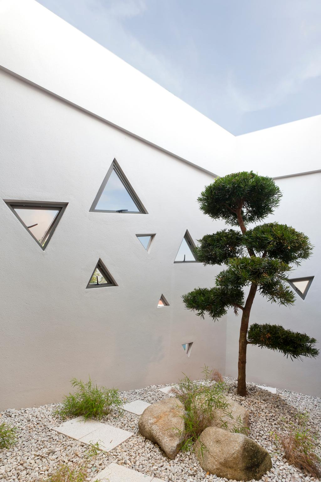 Wat Ananda Metyarama, Commercial, Architect, Czarl Architects, Minimalistic, Triangle, Conifer, Flora, Pine, Plant, Tree