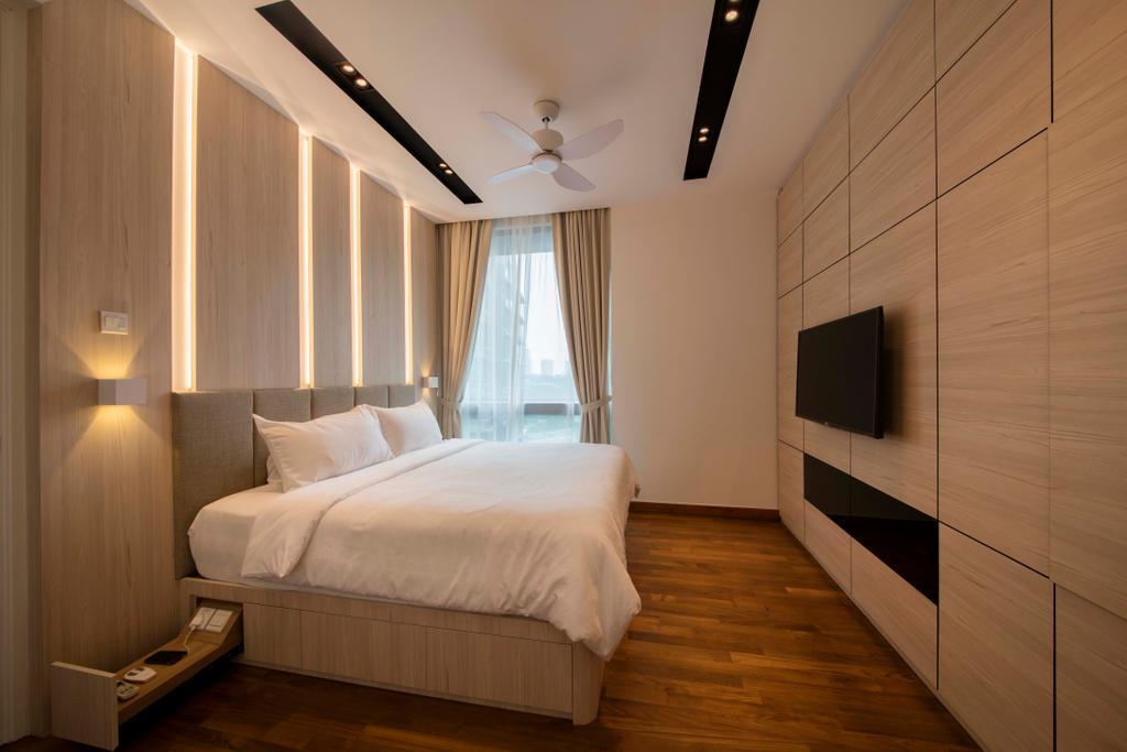Minimalistic, Condo, Bedroom, Ten Suffolk, Interior Designer, Posh Home, Scandinavian, Bed, Furniture