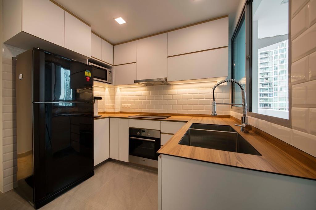 Minimalistic, Condo, Kitchen, Ten Suffolk, Interior Designer, Posh Home, Scandinavian, Appliance, Electrical Device, Oven, Indoors, Interior Design, Room, Flooring