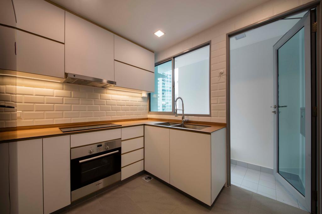Minimalistic, Condo, Kitchen, Ten Suffolk, Interior Designer, Posh Home, Scandinavian, Appliance, Electrical Device, Oven, Indoors, Interior Design, Room