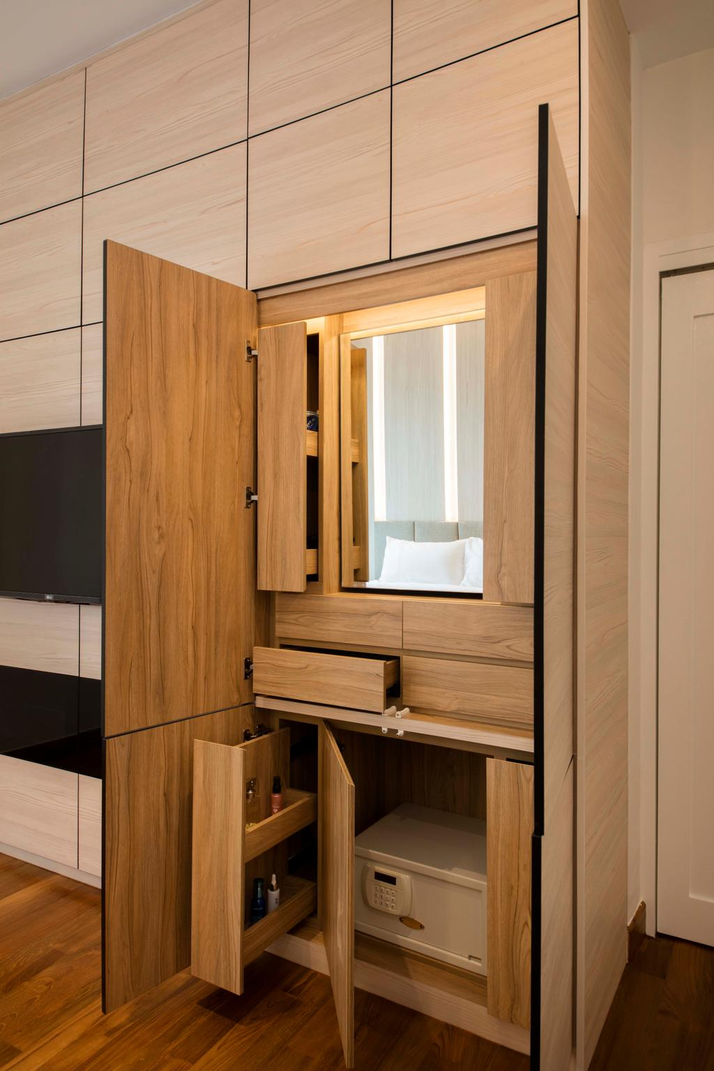 Minimalistic, Condo, Bedroom, Ten Suffolk, Interior Designer, Posh Home, Scandinavian, Closet, Furniture, Wardrobe