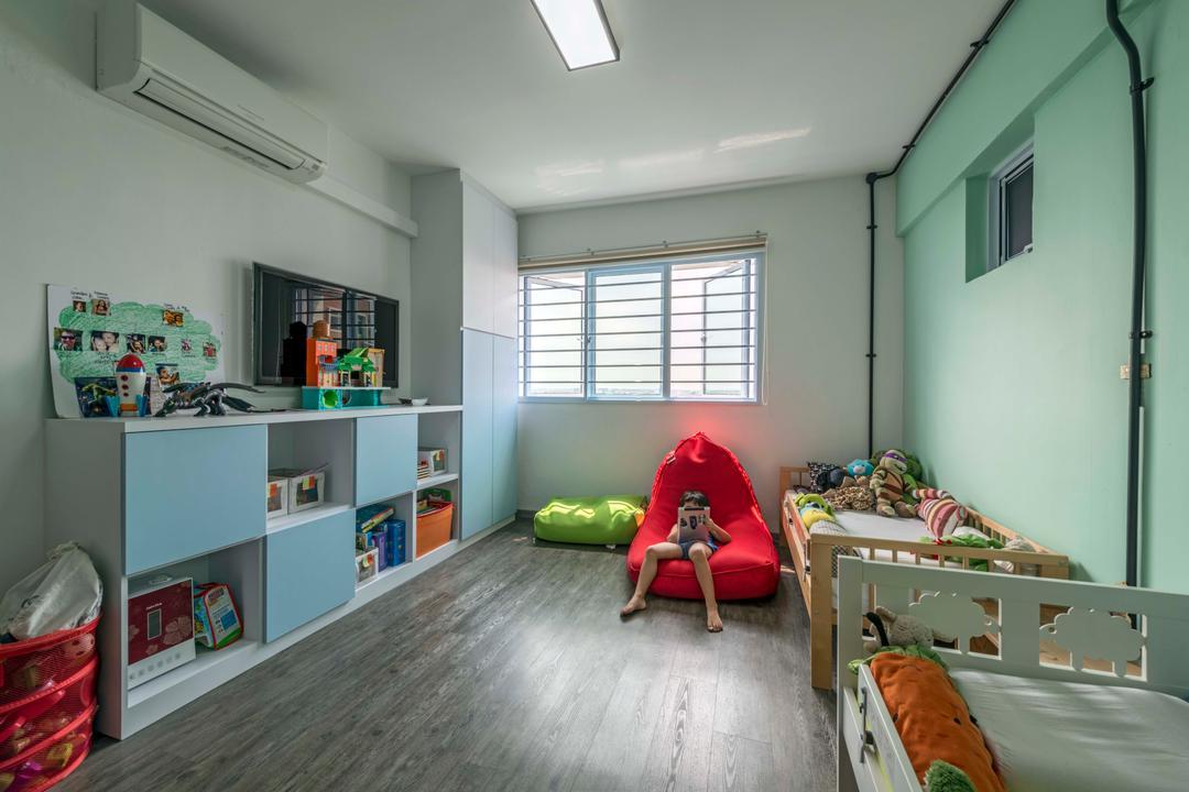 Serangoon North Avenue 4, Voila, Modern, Industrial, Bedroom, HDB, Indoors, Room, Asleep