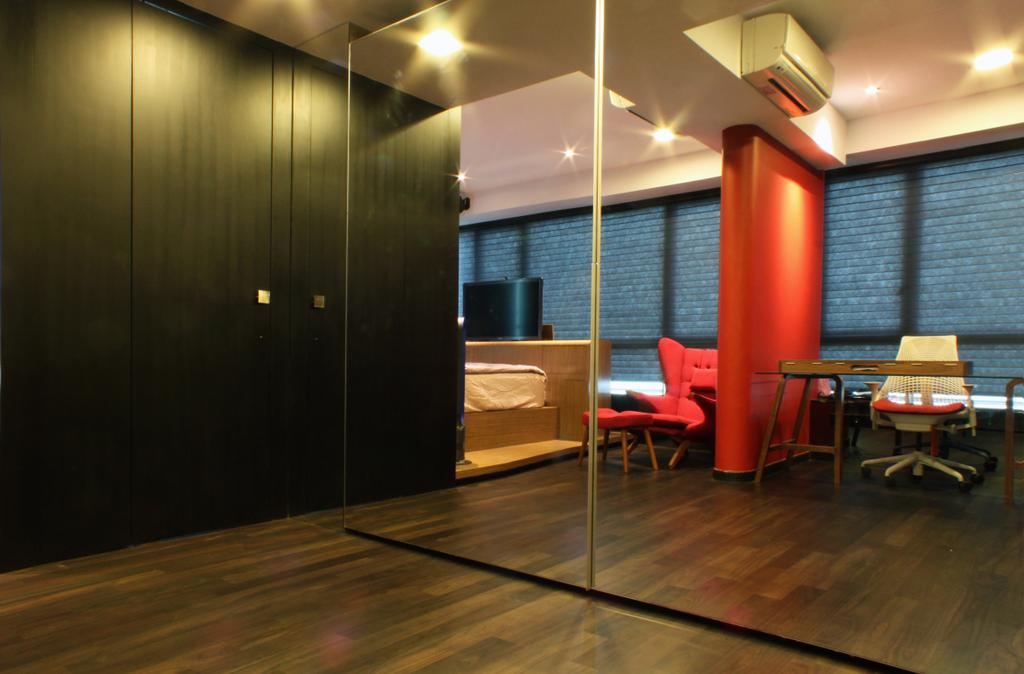 Contemporary, Condo, Bedroom, The Riverine, Architect, Czarl Architects, Mirror, Cabinet, Wardrobe, Cupboard, Dresser, Chair, Furniture, Indoors, Interior Design