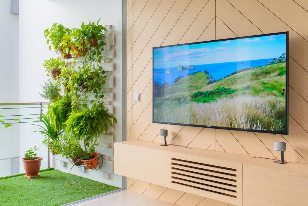Minimalistic, Condo, Living Room, Eight Riversuites, Architect, FOMA Architects, Flora, Jar, Plant, Potted Plant, Pottery, Vase