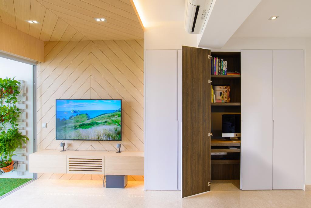 Minimalistic, Condo, Living Room, Eight Riversuites, Architect, FOMA Architects, Indoors, Interior Design, Flora, Jar, Plant, Potted Plant, Pottery, Vase