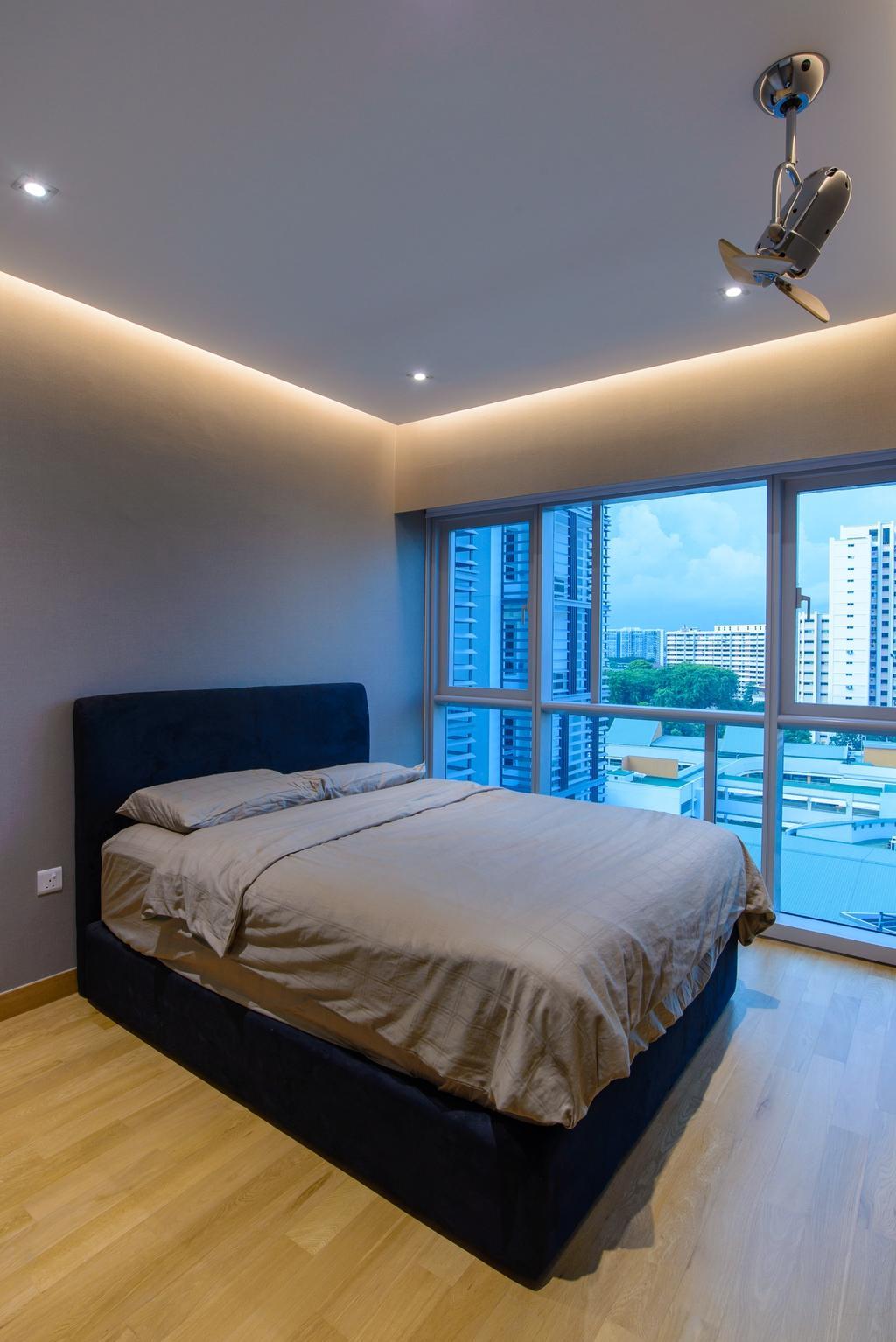 Minimalistic, Condo, Bedroom, Eight Riversuites, Architect, FOMA Architects, Bed, Furniture, Indoors, Interior Design, Room