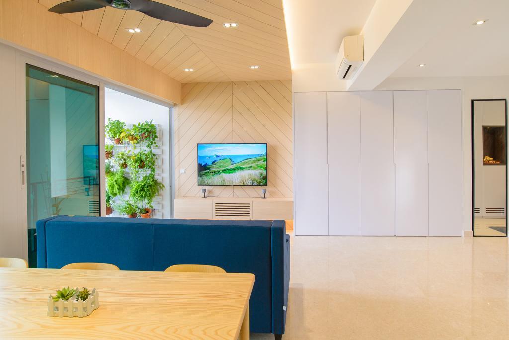 Minimalistic, Condo, Living Room, Eight Riversuites, Architect, FOMA Architects, Window