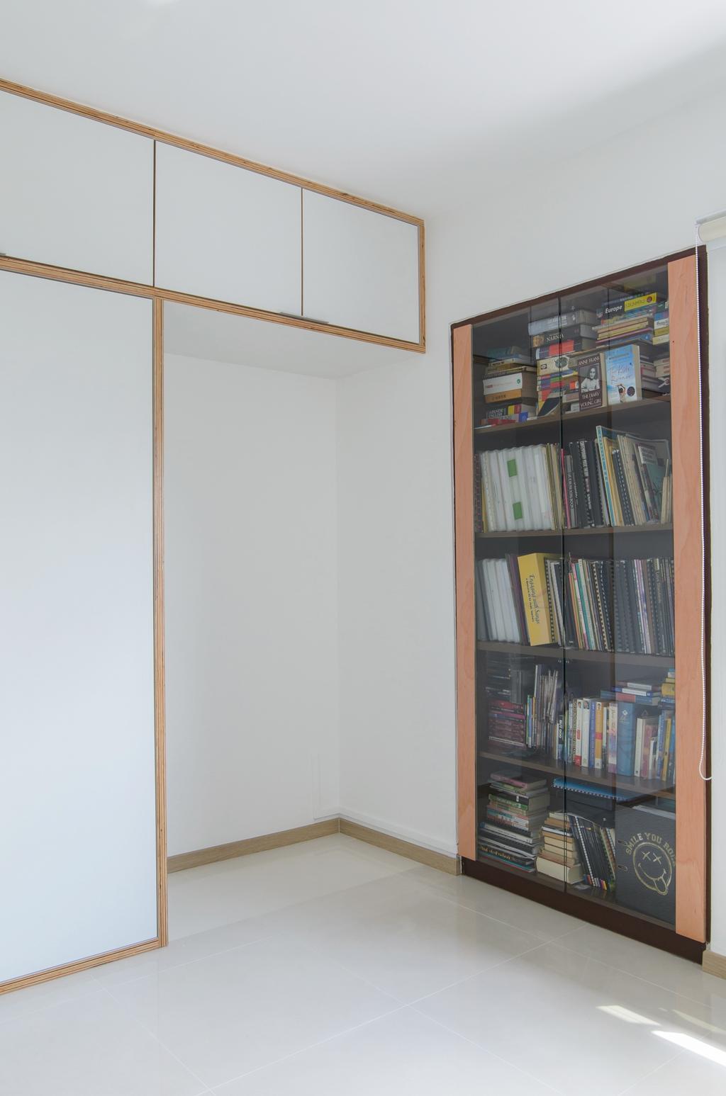 Scandinavian, HDB, Bedroom, Clementi (Block 456), Architect, FOMA Architects, Bookcase, Bookworm, Display Case, Furniture, Shelf