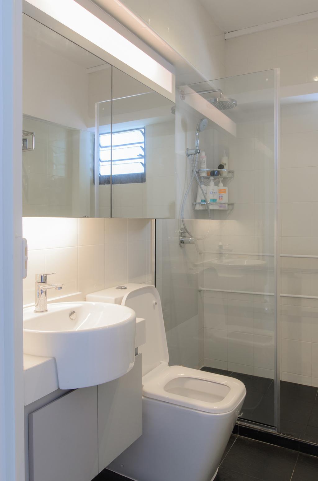Scandinavian, HDB, Bathroom, Clementi (Block 456), Architect, FOMA Architects, Indoors, Interior Design, Room