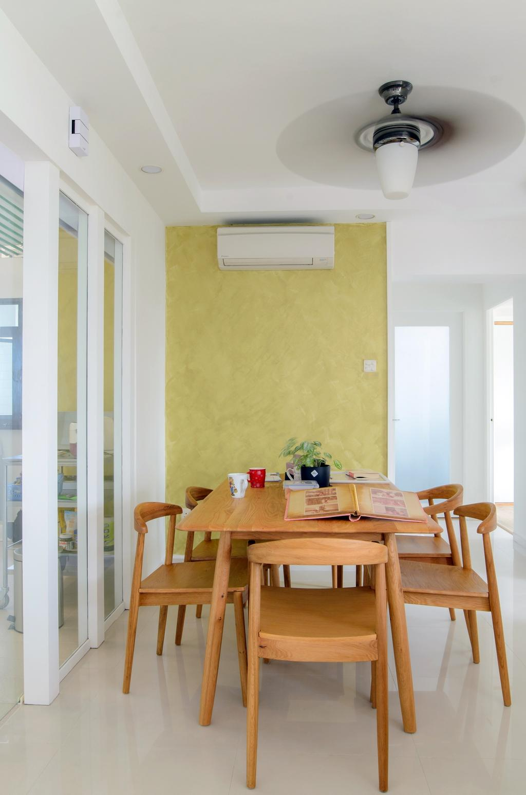 Scandinavian, HDB, Dining Room, Clementi (Block 456), Architect, FOMA Architects, Flora, Jar, Plant, Potted Plant, Pottery, Vase, Dining Table, Furniture, Table, Indoors, Interior Design, Room, Chair, Bar Stool