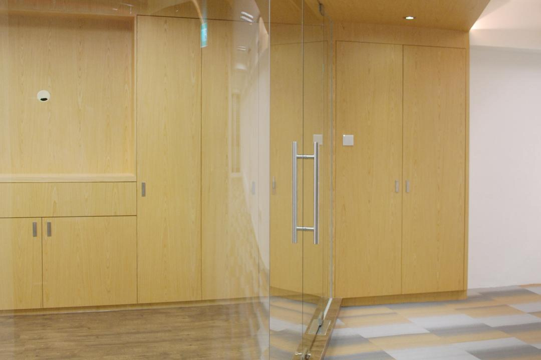 198 Office, Czarl Architects, Transitional, Commercial, Main Entrance, Carpet, Glass Partition, Glass Door, Wooden False Ceiling