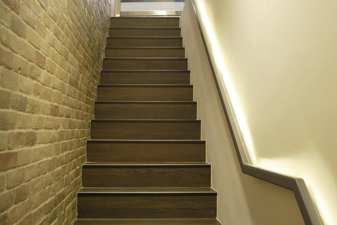 198 Office, Czarl Architects, Transitional, Commercial, Stairways, Stairs, Stair, Staircase, Cove Lighting, Stair Rail, Flooring