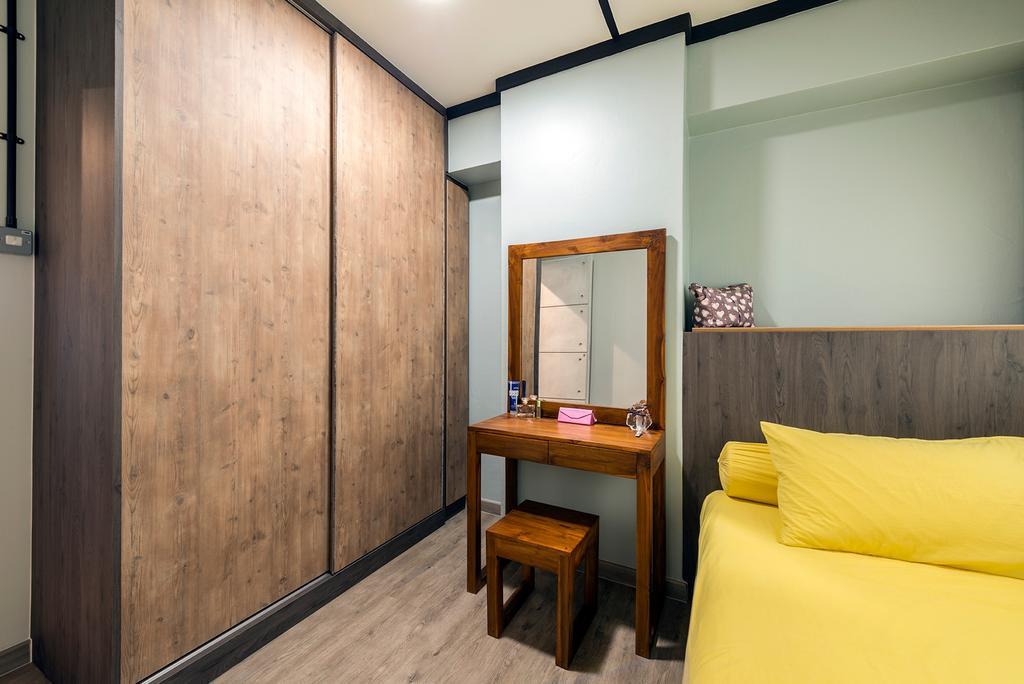 Industrial, HDB, Queen's Close, Interior Designer, Ace Space Design, Retro, Building, Housing, Indoors, Loft, Desk, Furniture, Table