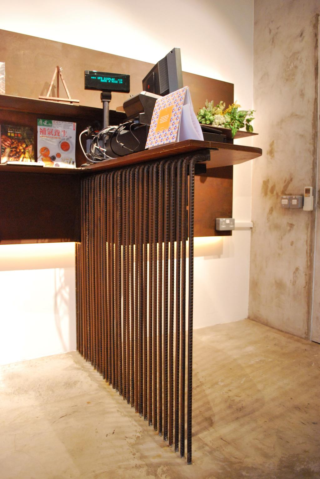 OMG, Commercial, Architect, Czarl Architects, Contemporary, Cashier, Counter, Divider, Wall Storage