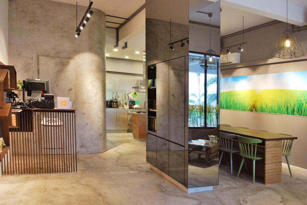 OMG, Commercial, Architect, Czarl Architects, Contemporary, Restaurant, Dining Table, Furniture, Table, Flooring, HDB, Building, Housing, Indoors, Loft