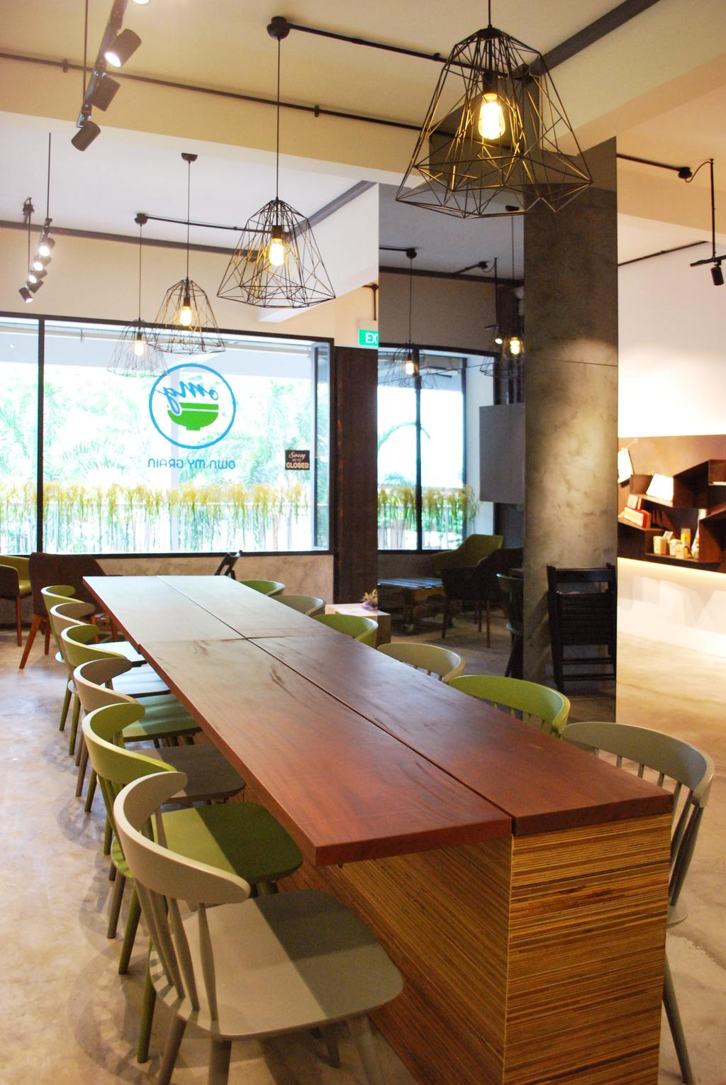 OMG, Commercial, Architect, Czarl Architects, Contemporary, Conference Room, Indoors, Meeting Room, Room, Dining Table, Furniture, Table, Plywood, Wood, HDB, Building, Housing, Loft, Appliance, Electrical Device, Oven