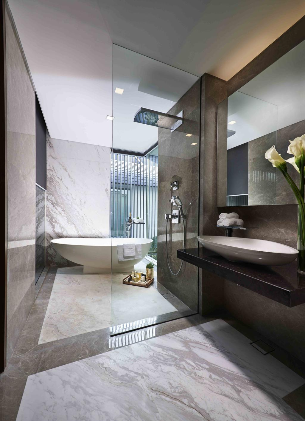 Modern, Landed, Cove Drive Residence, Architect, GK Architects, Bathroom, Indoors, Interior Design, Room
