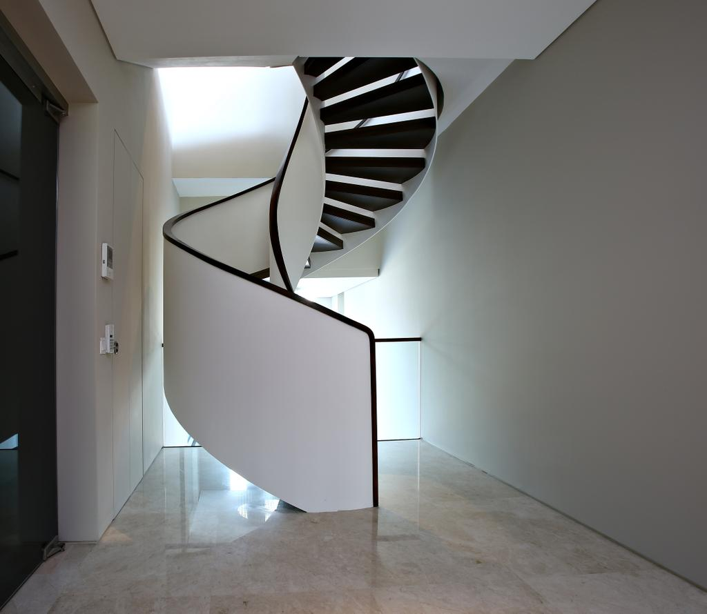 Modern, Landed, Cove Drive Residence, Architect, GK Architects, Banister, Handrail, Staircase