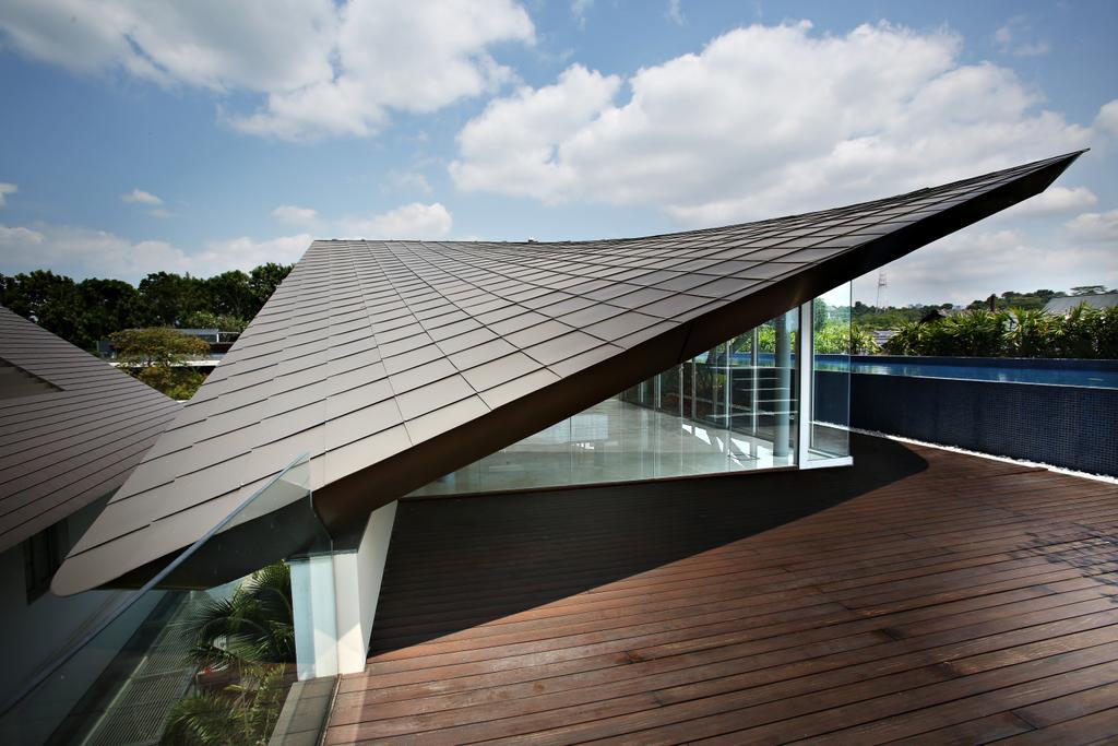 Modern, Landed, Cove Drive Residence, Architect, GK Architects, Flora, Jar, Plant, Potted Plant, Pottery, Vase, Balcony, Roof