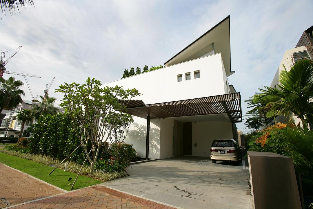 Cove Way Residence, GK Architects, Contemporary, Landed, Flora, Jar, Plant, Potted Plant, Pottery, Vase, Building, House, Housing, Villa, Path, Pavement, Sidewalk, Walkway