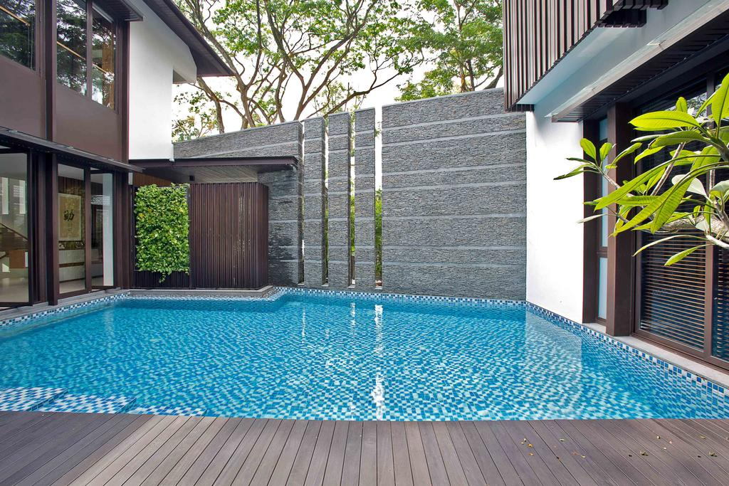 Transitional, Landed, Eng Neo Residence, Architect, GK Architects, Flora, Jar, Plant, Potted Plant, Pottery, Vase, Pool, Water, Building, House, Housing, Villa