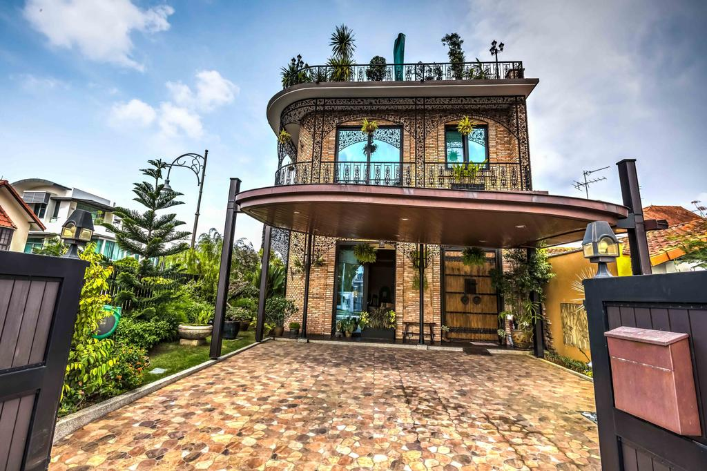 Traditional, Landed, Jitong Residence, Architect, GK Architects, Building, House, Housing, Villa, Backyard, Outdoors, Yard