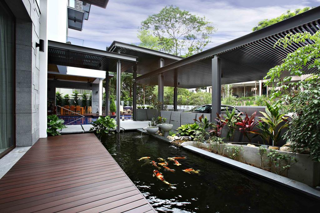 Modern, Landed, Park Vale Residence, Architect, GK Architects, Flora, Jar, Plant, Potted Plant, Pottery, Vase