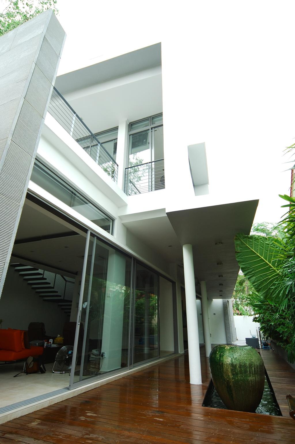 Contemporary, Landed, Pergam Residence, Architect, GK Architects, Architecture, Building, Skylight, Window, Column, Pillar