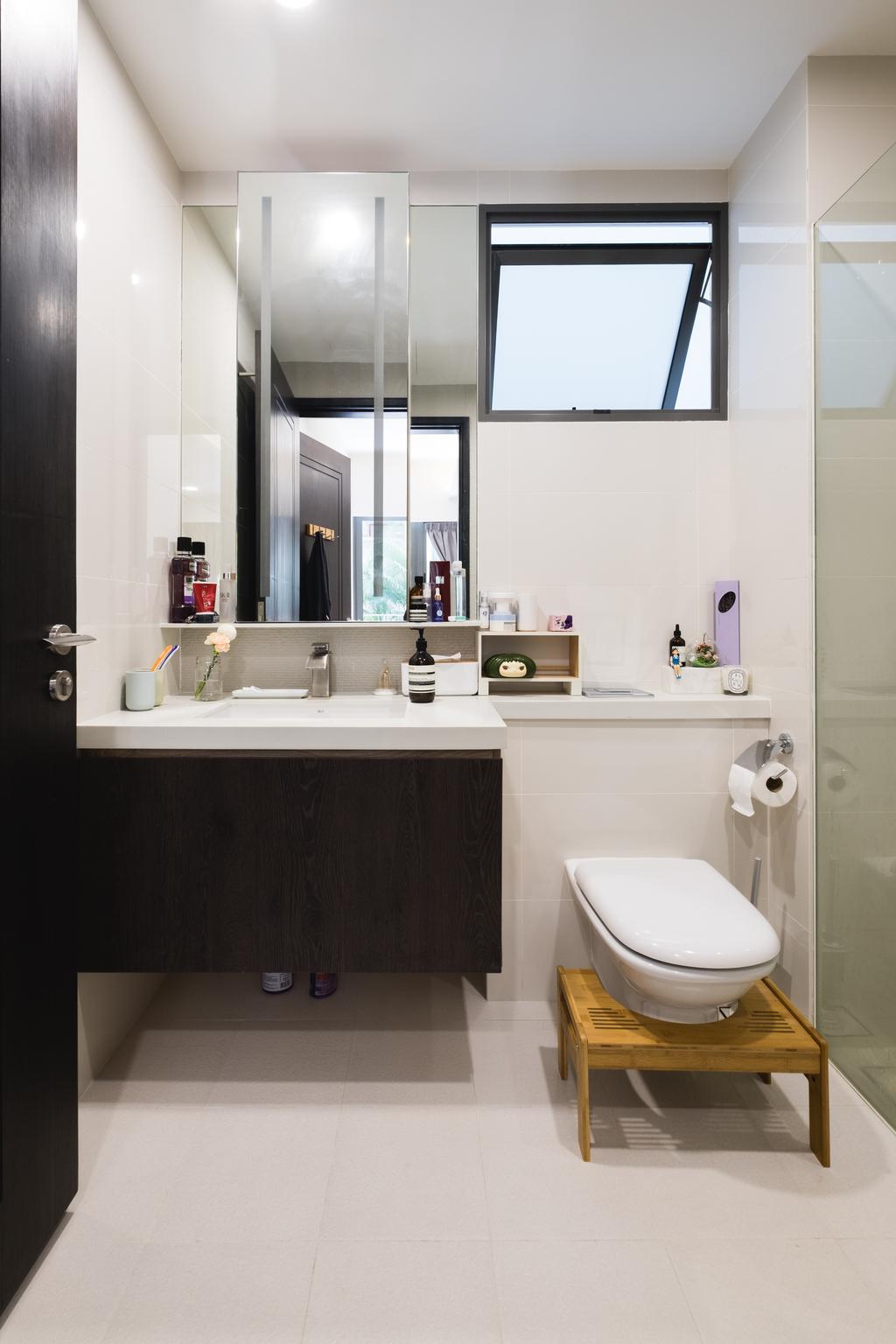 Minimalistic, Condo, Bathroom, E Maison, Interior Designer, Lemonfridge Studio, Scandinavian, Indoors, Interior Design, Room, Toilet