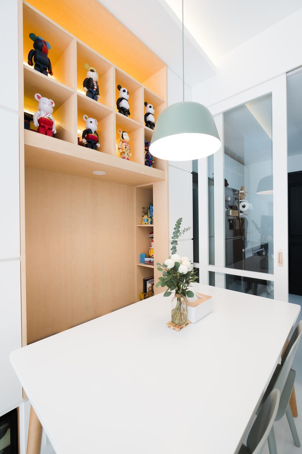 Minimalist, Condo, Dining Room, E Maison, Interior Designer, Lemonfridge Studio, Scandinavian, Indoors, Interior Design, Blossom, Flora, Flower, Flower Arrangement, Ornament, Plant