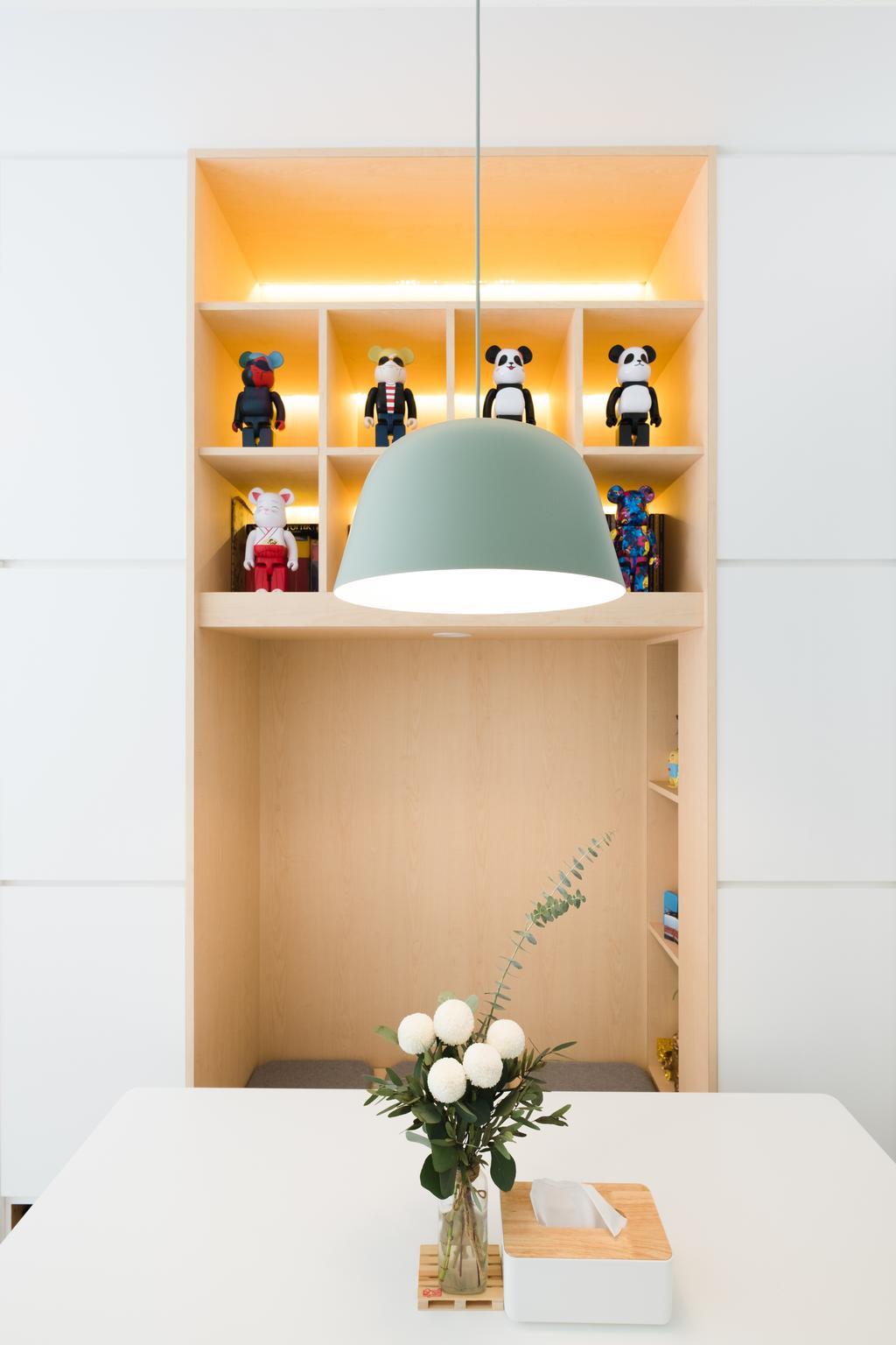 Minimalist, Condo, Dining Room, E Maison, Interior Designer, Lemonfridge Studio, Scandinavian, Lighting, Chair, Furniture