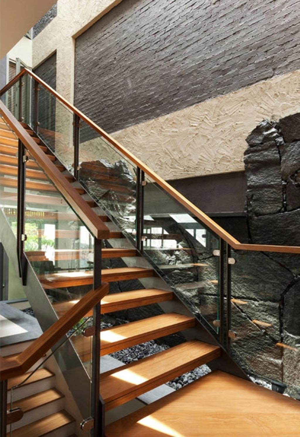 Transitional, Landed, Clementi Crescent, Architect, Timur Designs, Banister, Handrail, Staircase
