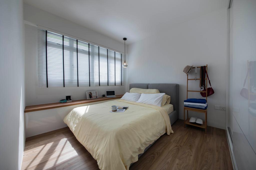 Minimalistic, HDB, Bedroom, Chai Chee Road (Block 808A), Interior Designer, The Roomakers, Scandinavian, Indoors, Interior Design, Room, Bed, Furniture