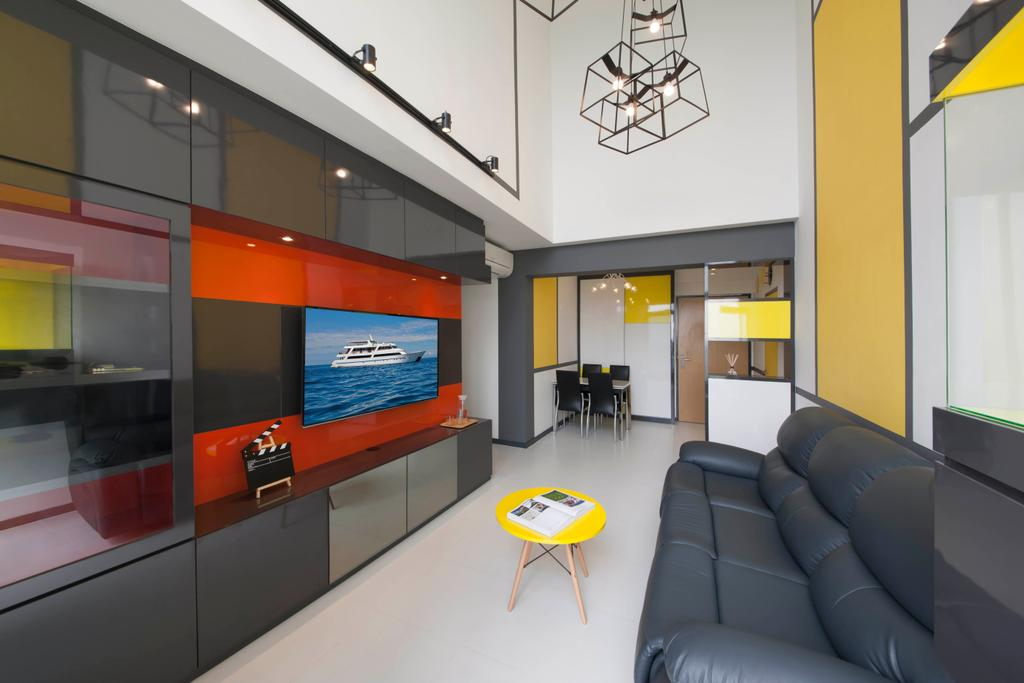 Eclectic, HDB, Living Room, SkyTerrace @ Dawson, Interior Designer, The Roomakers, Couch, Furniture, Chair, Table, Kiosk, Indoors, Interior Design