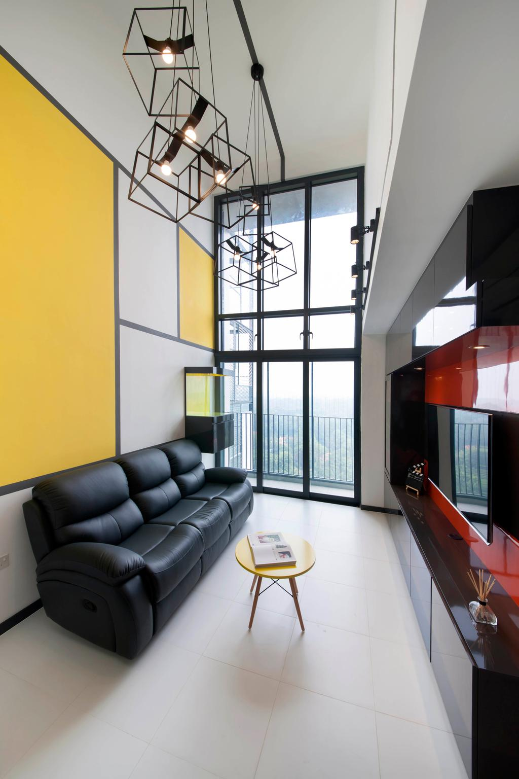 Eclectic, HDB, Living Room, SkyTerrace @ Dawson, Interior Designer, The Roomakers, Couch, Furniture