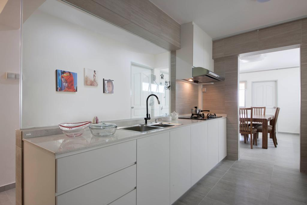 Minimalistic, HDB, Kitchen, Jurong East (Block 323), Interior Designer, The Roomakers, Dining Table, Furniture, Table, Indoors, Interior Design