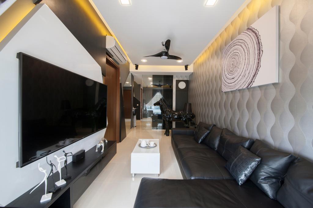 Contemporary, Condo, Living Room, M66, Interior Designer, The Roomakers, Couch, Furniture, Indoors, Interior Design