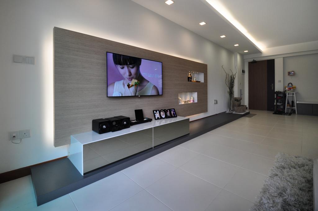 Modern, HDB, Living Room, Punggol Walk (Block 272A), Interior Designer, The Roomakers, Indoors, Interior Design, Flooring, Frost, Ice, Outdoors, Snow