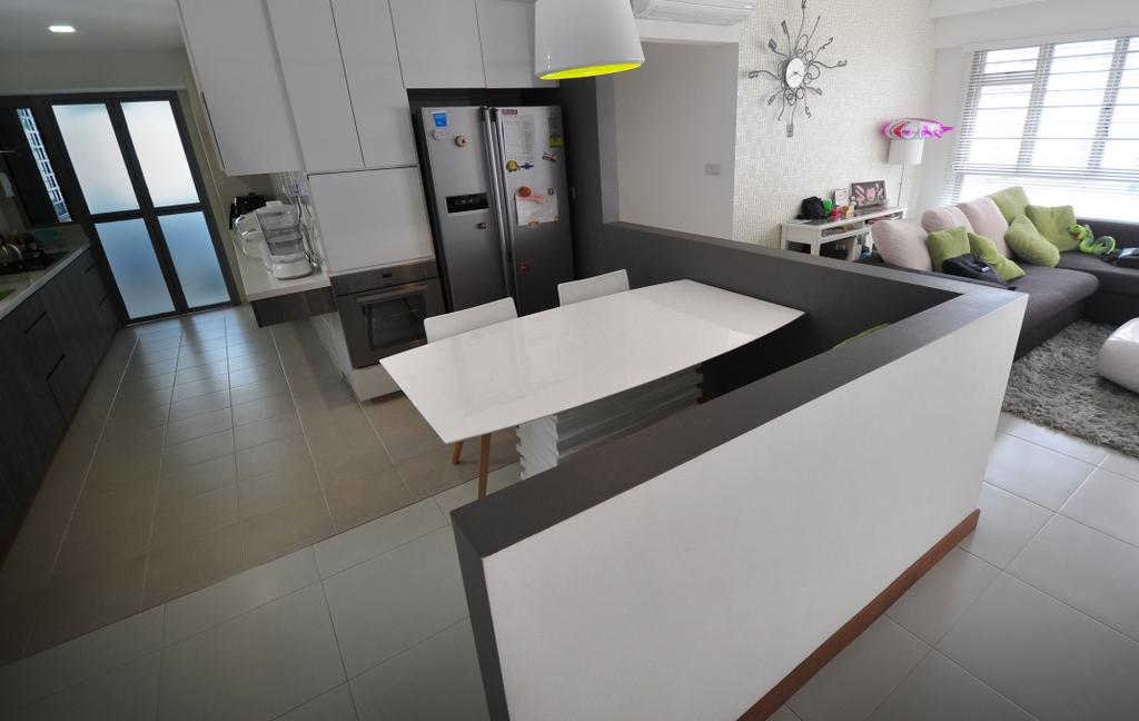Modern, HDB, Dining Room, Punggol Walk (Block 272A), Interior Designer, The Roomakers