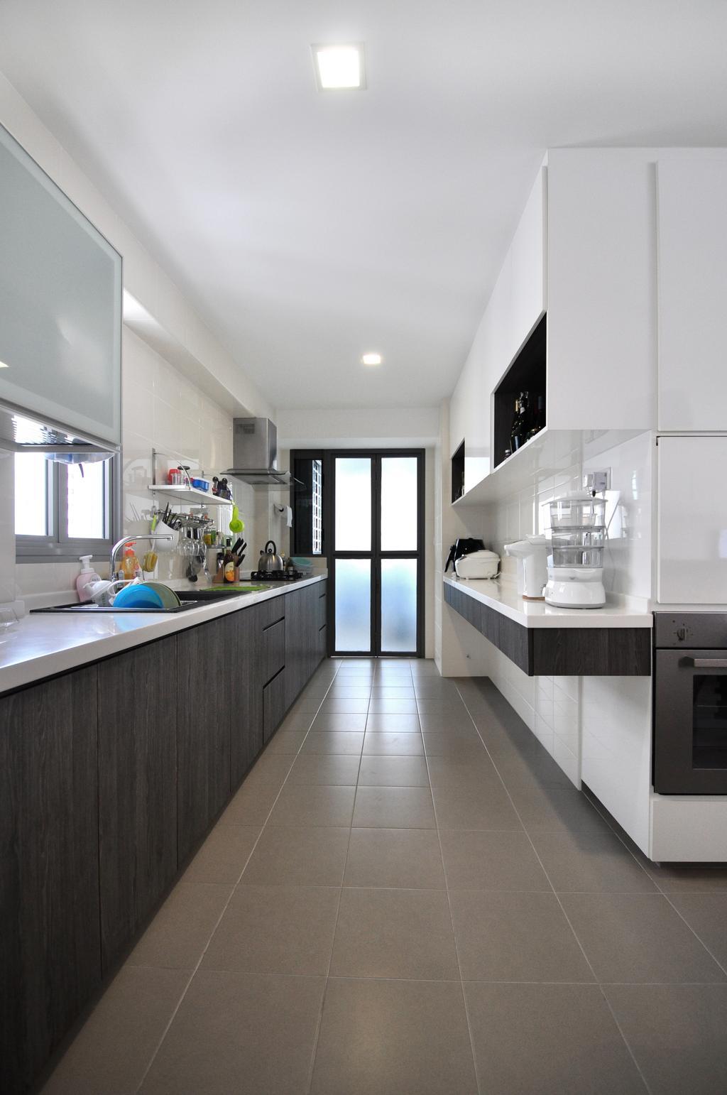 Modern, HDB, Kitchen, Punggol Walk (Block 272A), Interior Designer, The Roomakers, Sink, Indoors, Interior Design, Room