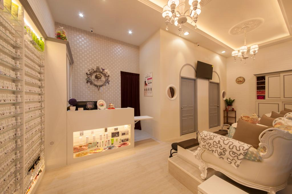 Shugar Spa @ Waterway Point, Commercial, Interior Designer, The Roomakers, Vintage, Indoors, Interior Design, Couch, Furniture