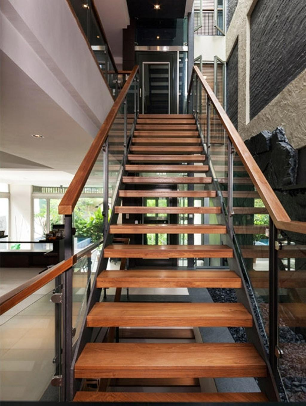 Transitional, Landed, Clementi Crescent, Architect, Timur Designs, Bench, Banister, Handrail, Staircase