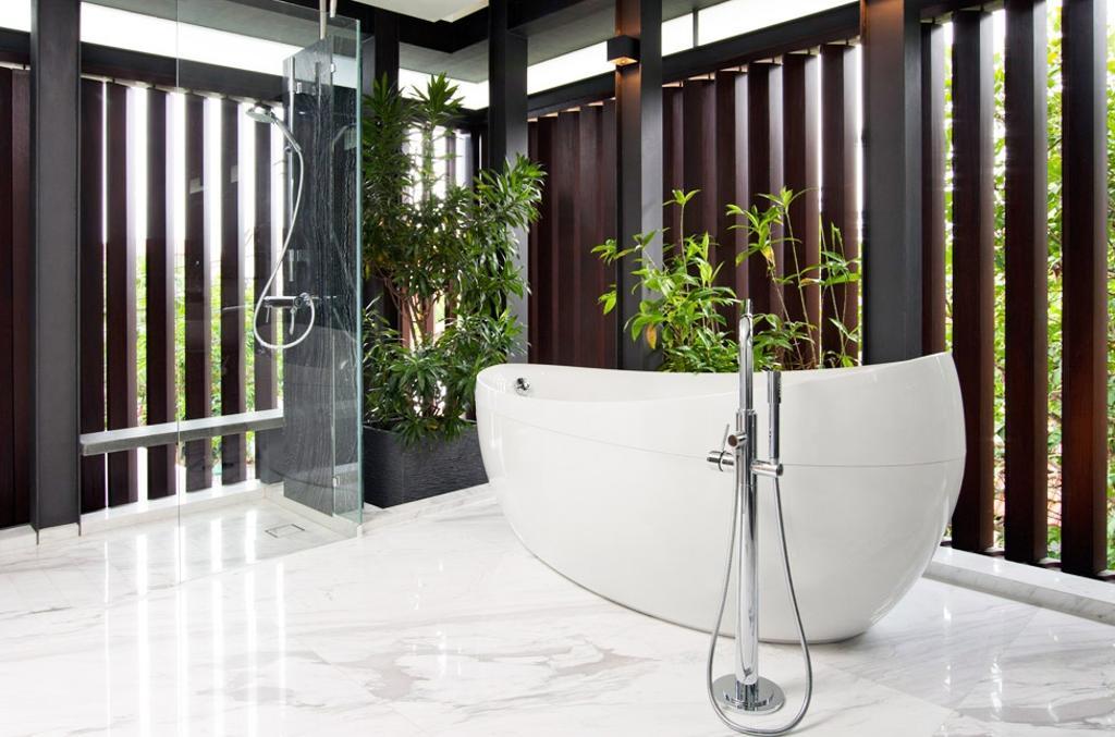 Traditional, Landed, Bathroom, Frankel Walk, Architect, Timur Designs, Flora, Jar, Plant, Potted Plant, Pottery, Vase, Pot