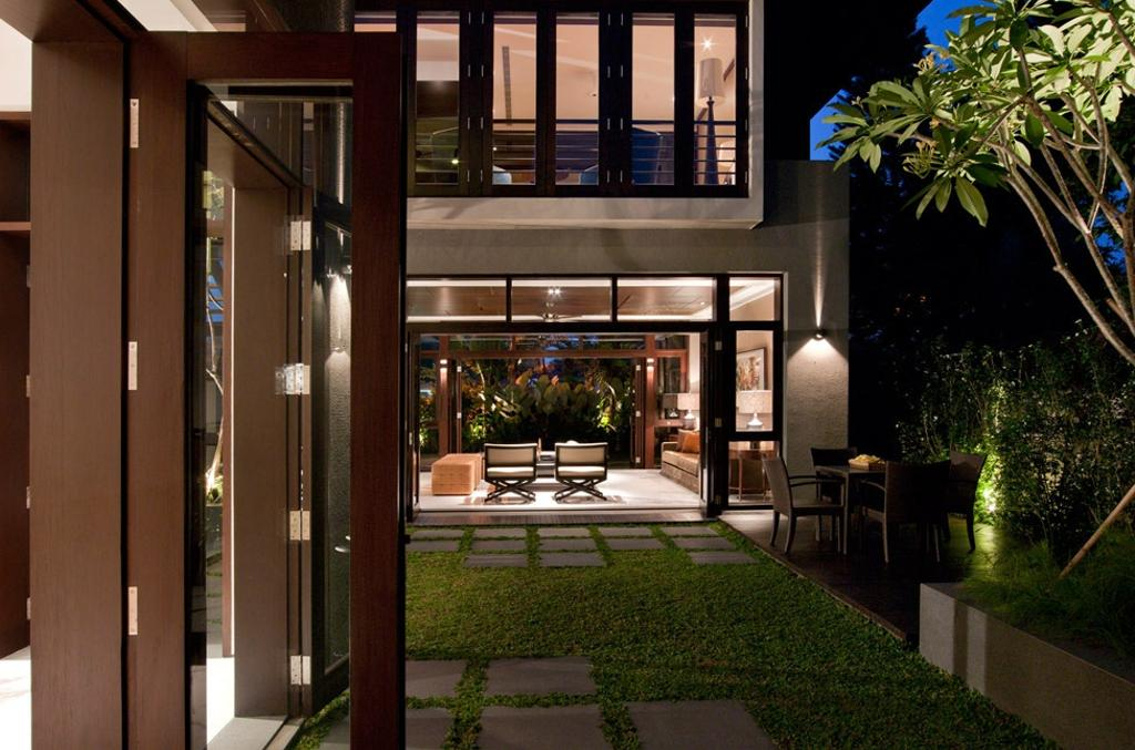 Traditional, Landed, Frankel Walk, Architect, Timur Designs, Bench, Patio, Building, House, Housing, Villa